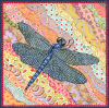 Tiny view of dragonfly painting